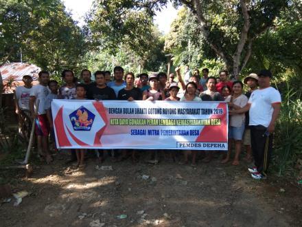 BULAN BAKTI GOTONG ROYONG DESA DEPEHA TAHUN 2019